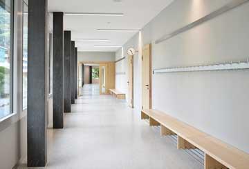 Niederurnen Schulhaus Jung Architekten ROWOSTONE Terrazzobelag